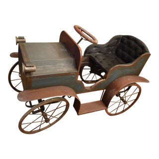 Antique Triang Wooden Pedal Car For Sale