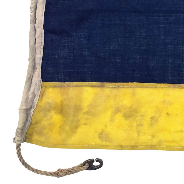 English 1940s Nautical Wool Signal Flag For Sale - Image 3 of 6