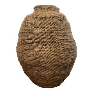 African Woven Vine Grain Basket For Sale