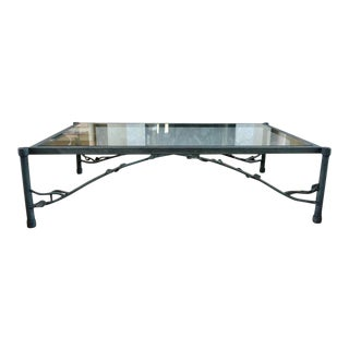1980s Organic Modern Large Outdoor Coffee Table For Sale