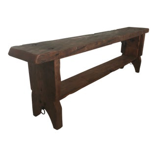Hearts Pine Rustic Wood Bench For Sale