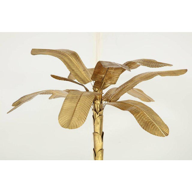 1970s Vintage Brass Banana Tree Sculpture For Sale - Image 4 of 11