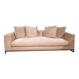 Cisco Brothers Richard Sofa in Molino Cobblestone Gray Fabric For Sale