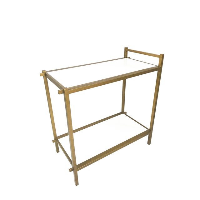 2010s Chelsea House Gilt Gold Bar Cart For Sale - Image 5 of 5