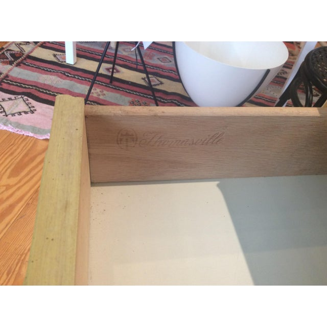 Yellow Thomasville Vintage Faux Bamboo Desk For Sale - Image 8 of 9