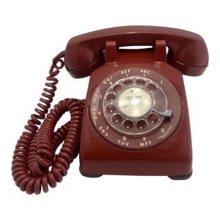 1958 Red Western Electric Rotary Dial Telephone For Sale