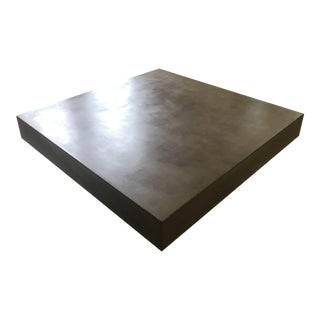 Modern Industrial Coffee Table in Concrete For Sale