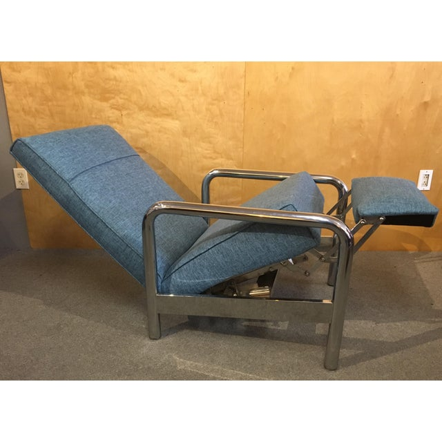 1970s Milo Baughman for Thayer Coggin Chrome Reclining Lounge Chair For Sale - Image 5 of 8