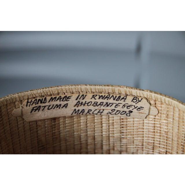 Rattan Rwanda Handmade Baskets - Set of Three For Sale - Image 7 of 8