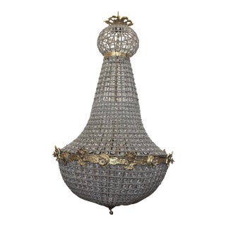 Large Empire Style Beaded Chandelier