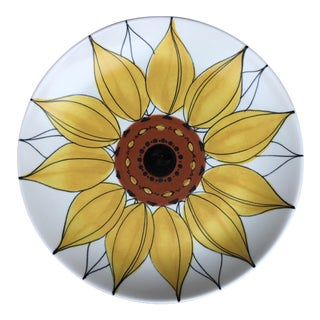 1950s Arabia Finland Sunflower Serving Plate by Hilkka Liisa Ahola For Sale