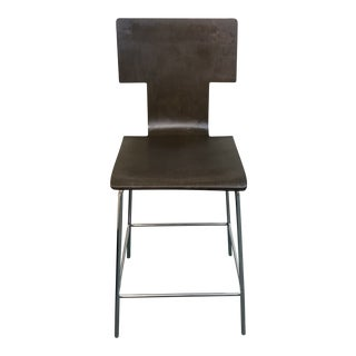 West Elm Espresso Counter Height Stool For Sale