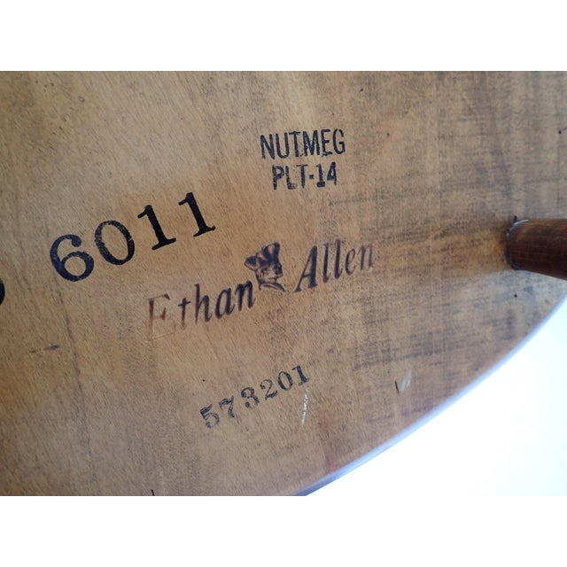 Maple Ethan Allen Country Thumb-Back Dining Chair For Sale - Image 7 of 7
