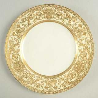 1940s Royal Worcester Embassy Cream Rim and Gold Luncheon Plate - Set of 10 Preview