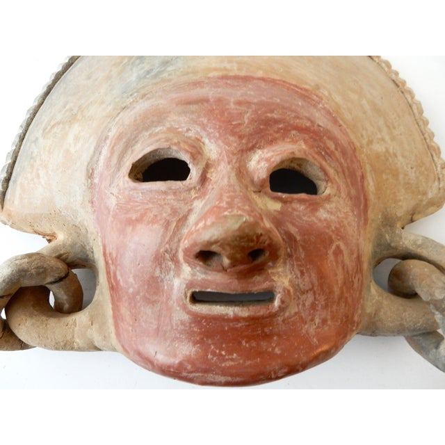 Boho Chic Pre Colombian Style Decorative Mask For Sale - Image 3 of 5