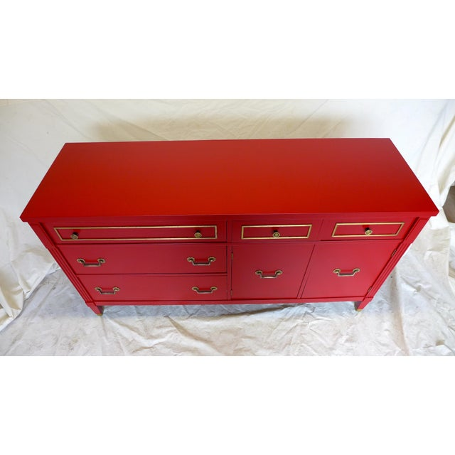 Mid-Century Cherry Red Sideboard - Image 3 of 10