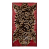 Image of Tiger Pictorial Red Orange and Black Wool and Silk Rug For Sale