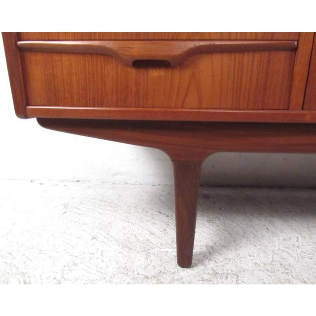 Scandinavian Modern Teak Sideboard or Television Console For Sale - Image 4 of 9