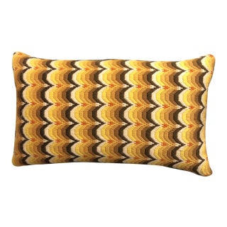 New Bargello Hand-Embroidered in Usa Pillow For Sale