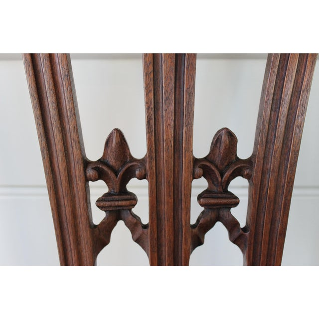 Linen Carved Mahogany Chinese Chippendale Chairs - a Pair For Sale - Image 7 of 10