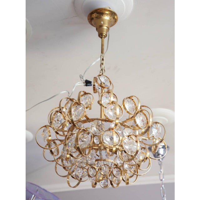 1960s Glamorous Petite Vintage Palwa Chandelier For Sale - Image 5 of 7