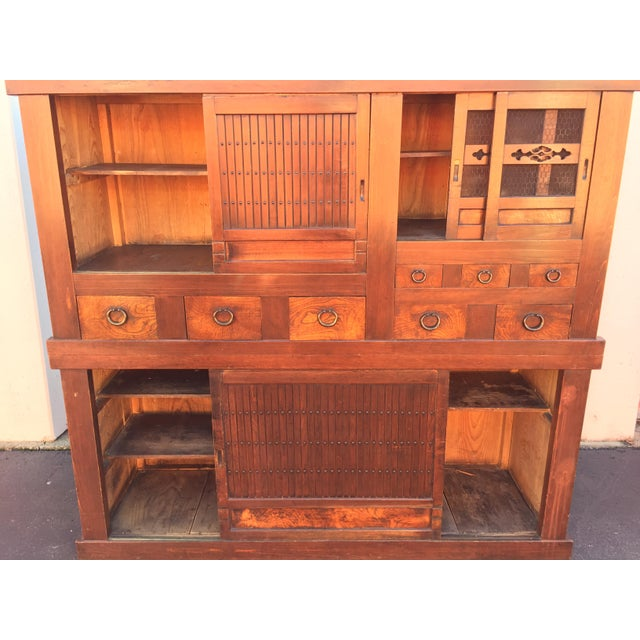 Late 19th Century Antique Kitchen Tansu Mizuya For Sale - Image 5 of 11
