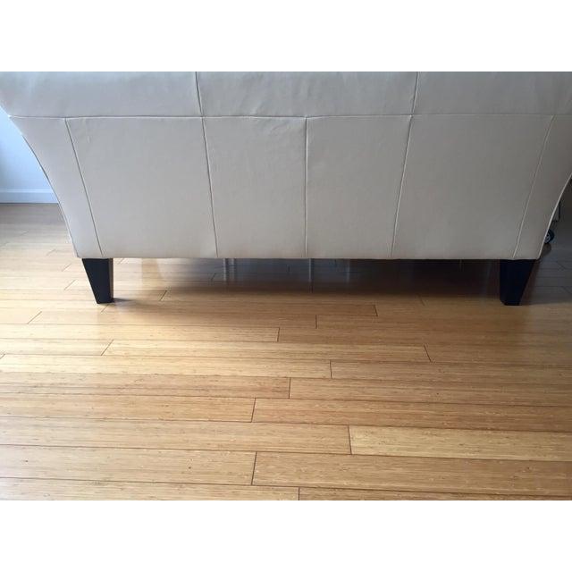 Modern White Leather Sofa - Image 5 of 7