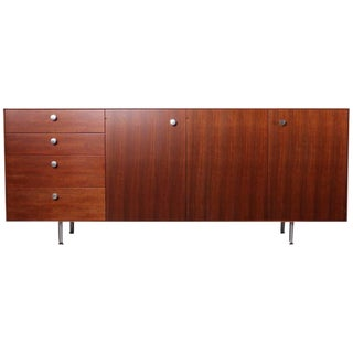 Rosewood and Walnut Thin Edge Cabinet by George Nelson for Herman Miller For Sale