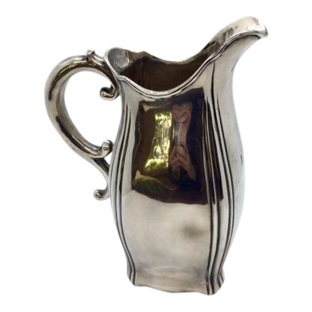 Late 19th Century Antique Sterling Silver Pitcher For Sale