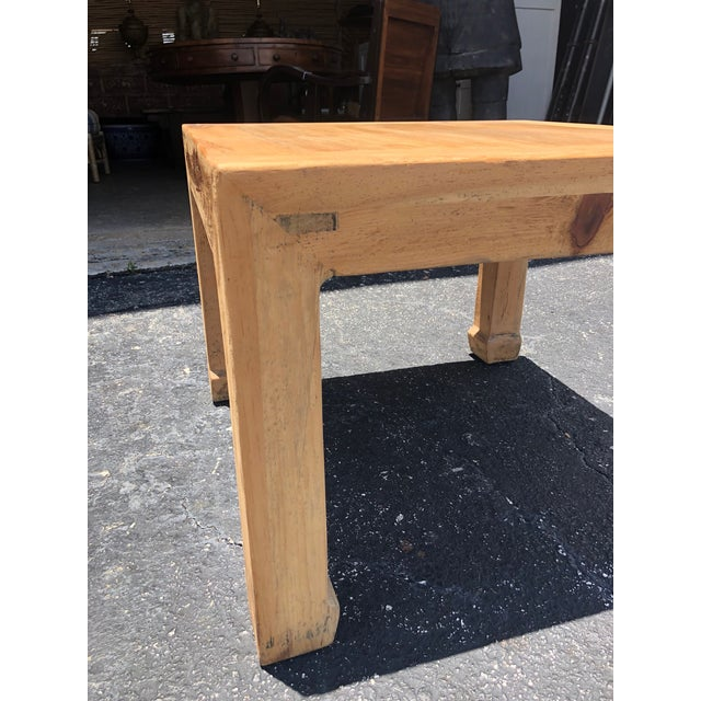 Asian Ming Natural Elm Side Table For Sale - Image 3 of 6