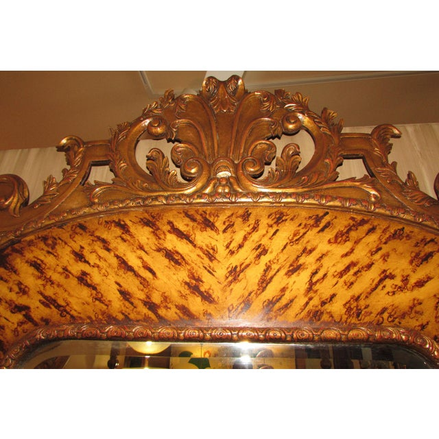 Traditional Theodore Alexander Hand Carved Mirror For Sale - Image 3 of 9