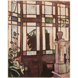 """1954 Raoul Dufy """"Window With Colored Panes"""", First Edition Lithograph For Sale"""