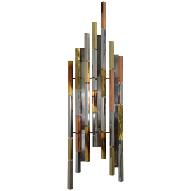 1970s MIX Metal Wall Sculpture For Sale - Image 11 of 11