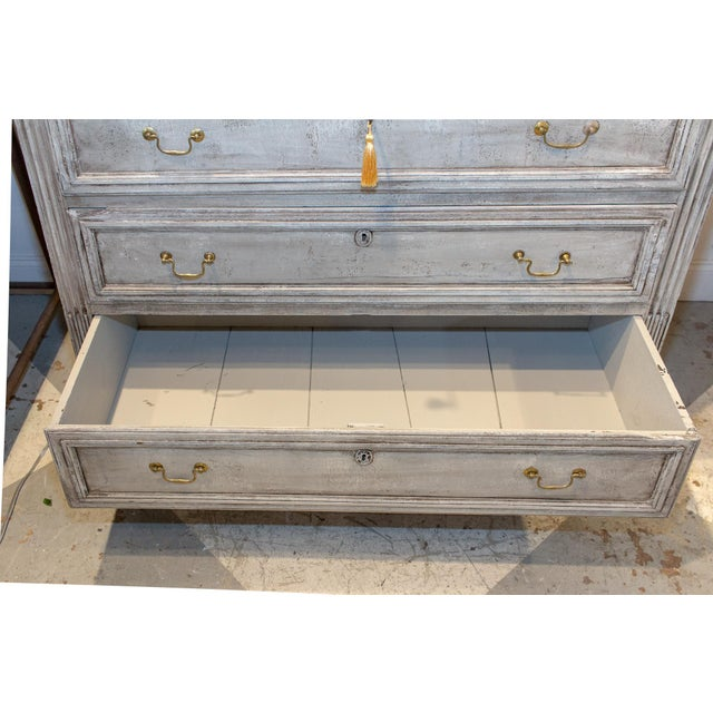 Gold 1900s Shabby Chic/French Louis XVI Commode For Sale - Image 8 of 13