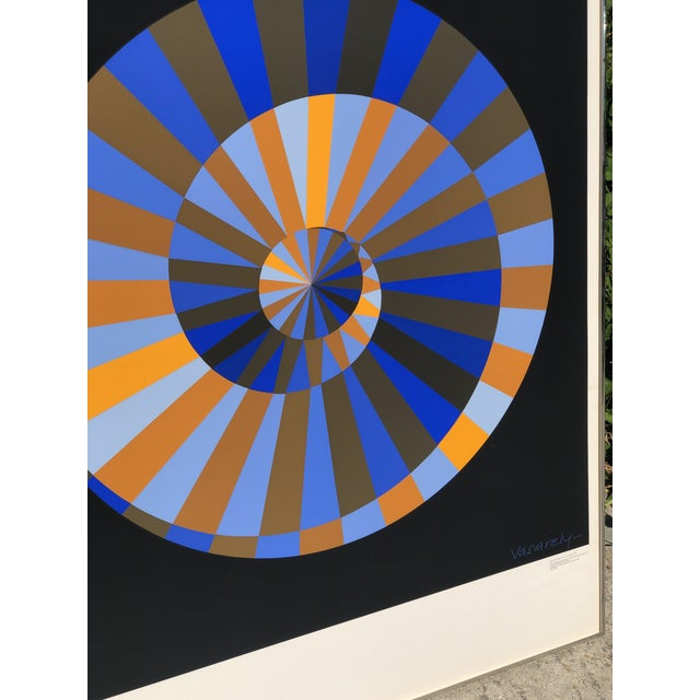 Victor Vasarely 1972 Vintage Victor Vasarely Limited Edition Official Munich Olympic Serigraph Poster For Sale - Image 4 of 9