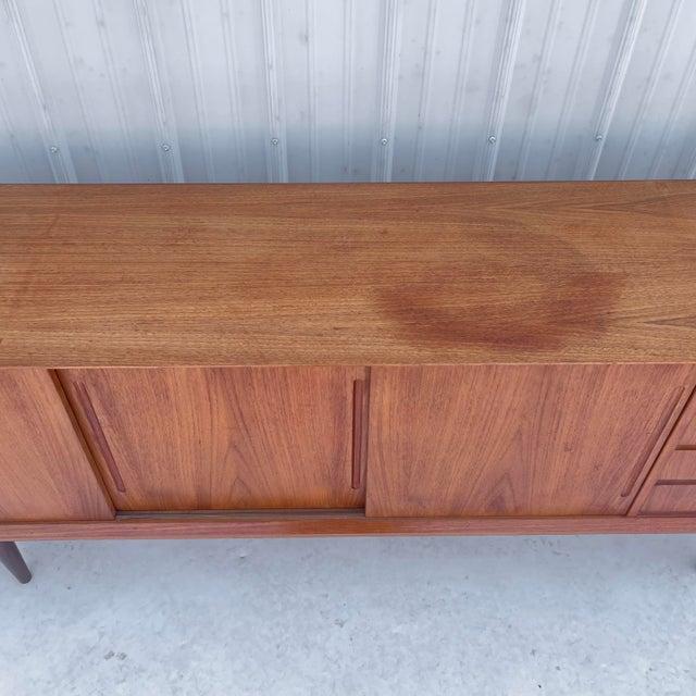 Wood Mid-Century Modern Teak Sideboard Attr. Jens Quistgaard for Løvig For Sale - Image 7 of 13