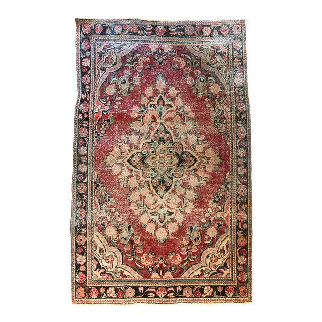 Middle Eastern Hand Knotted Wool Rug For Sale