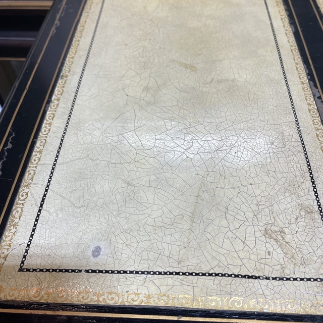 Chinoiserie Leather Too Writing Desk For Sale - Image 11 of 13