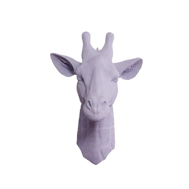 Wall Charmers Faux Lavender Purple Giraffe Head Wall Sculpture - Image 3 of 3