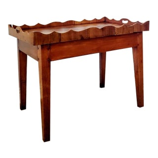 Rustic 19th Century French Cherry-Wood Tray Table For Sale