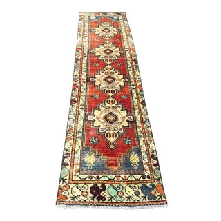 1960s Vintage Turkish Runner Rug - 2′3″ × 10′ For Sale