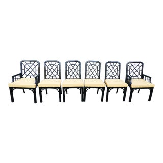 Magnificent Chinese Chippendale Dining Chairs - Set of 6 For Sale