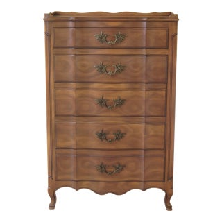 John Widdicomb French Style 5 Drawer High Chest For Sale