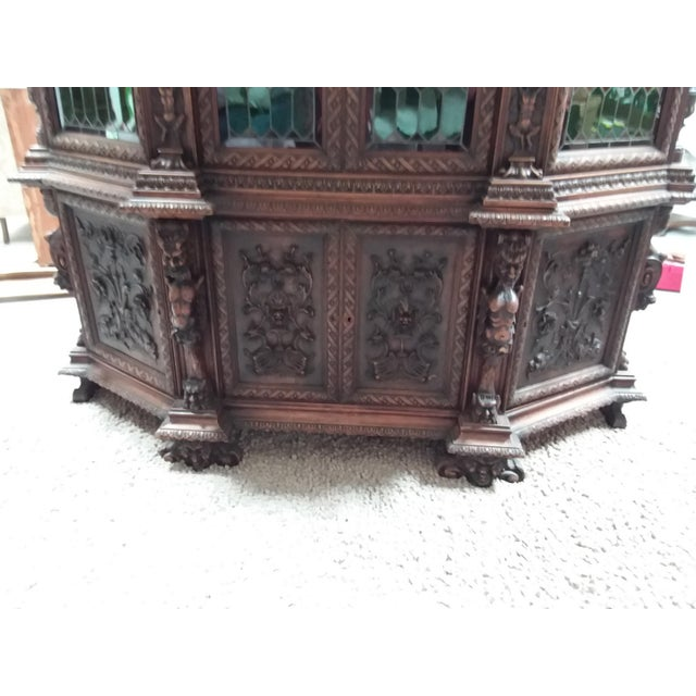 Baroque Ornate Renaissance Revival French Bookcase For Sale - Image 3 of 12