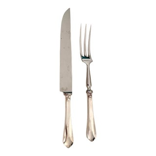 Ercuis Citeaux Silverplate Knife and Fork Carving Set - a Pair For Sale