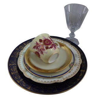 Vintage Mismatched Dinner Setting - 6 Pieces For Sale