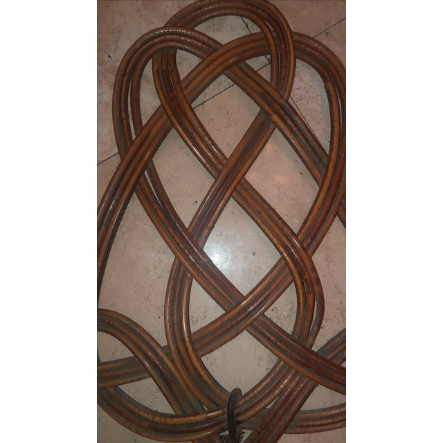 Early 19th Century Last Call.Antique Rattan Rug Beater For Sale - Image 5 of 9