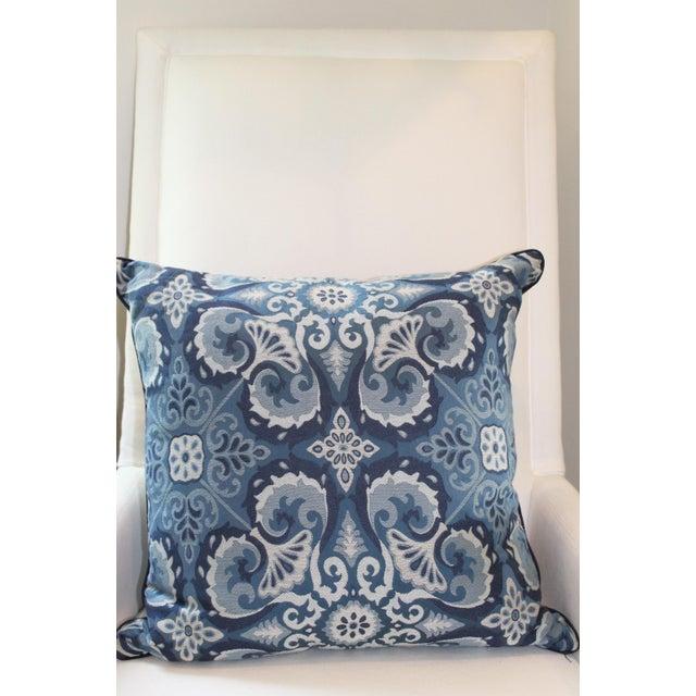 Ryan Studio Blue Paisley Pillow - Image 3 of 3