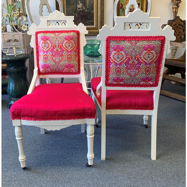18th Century Antique Eastlake Chairs - A Pair For Sale - Image 12 of 13