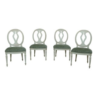 Set of 4 Ethan Allen Maison Collection Dining Chairs For Sale